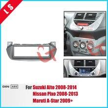 1DIN Autoradio Fascia per Suzuki alto NISSAN Pixo 2008 + Stereo Dash Fit Kit di Installazione Fascia Face Plate Surround Panel DVD Telaio