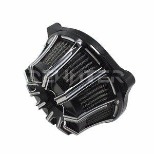 Image 2 - Фильтр для очистки воздуха CNC ремесла перевернутая большая присоска для Harley Sportster 883 1200 Softail Dyna Touring King