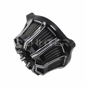 Image 2 - Filtro de ar Mais Limpo CNC Artesanato Invertido Grande Otário Para Harley Sportster 883 1200 Softail Dyna Touring Road King