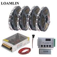 WS2812B WS2812 RGB Led Strip Light Tape HC008 Programmable RGB Led Pixel Controller DC5V Led Transformer Kit