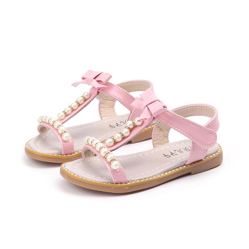 Honesty Sequins Inlaid Pearls Baby Girl Shoes Sweet Butterfly-knot Toddler Ballet Princess Shoes Infants Newborn Shoes Mother & Kids Baby Shoes