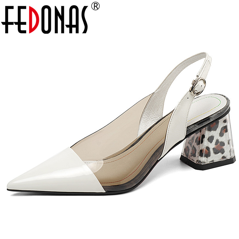 FEDONAS New Women 2019 Classic Design High Quality Genuine Leather Women Pumps Fashion Shoes Woman Pointed