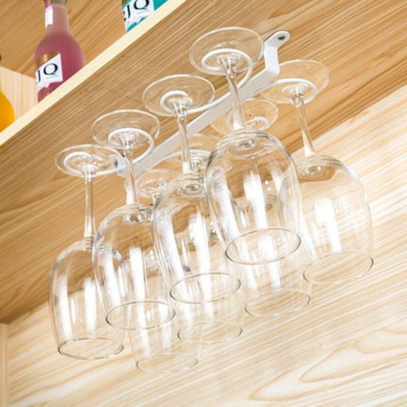 Новый высокое качество 4-12 бокал стойки фужеров висит под шкаф вешалка держатель Кухня аксессуары бар.