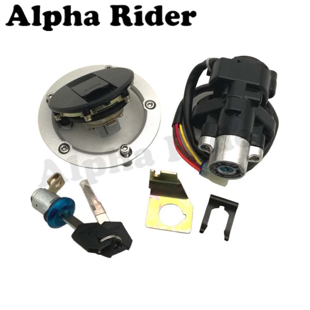 Motorcycle Ignition Switch Fuel Gas Tank Cap Cover Seat Lock Key for Suzuki GSX R GSXR
