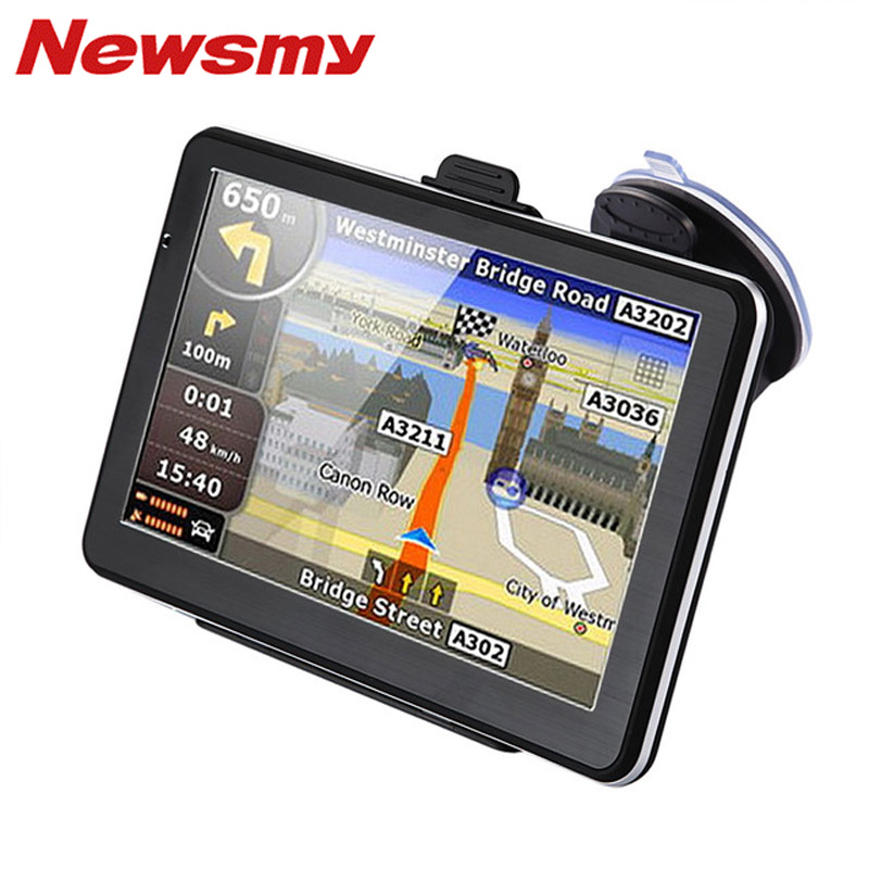 Newsmy Car Gps Navigation  Inch Hd Lcd Touch Screen Nav Gps Navigator Europe Maps For North South America Europe