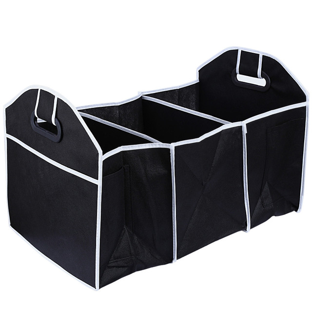 New Arrive Car Truck Van SUV Storage Basket Trunk Organizer Boot Stuff Food Automobile Stowing Tidying Folding Bag 50*32*32.5CM