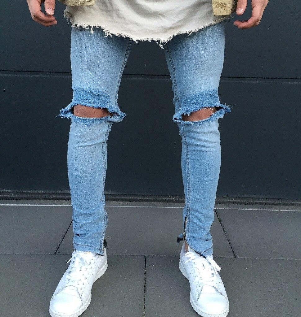 Mens Jeans Light Thin Fashion Brand Jeans Large sales of four seasons holes men Jeans Slim yung man Jeans pants mens trousers