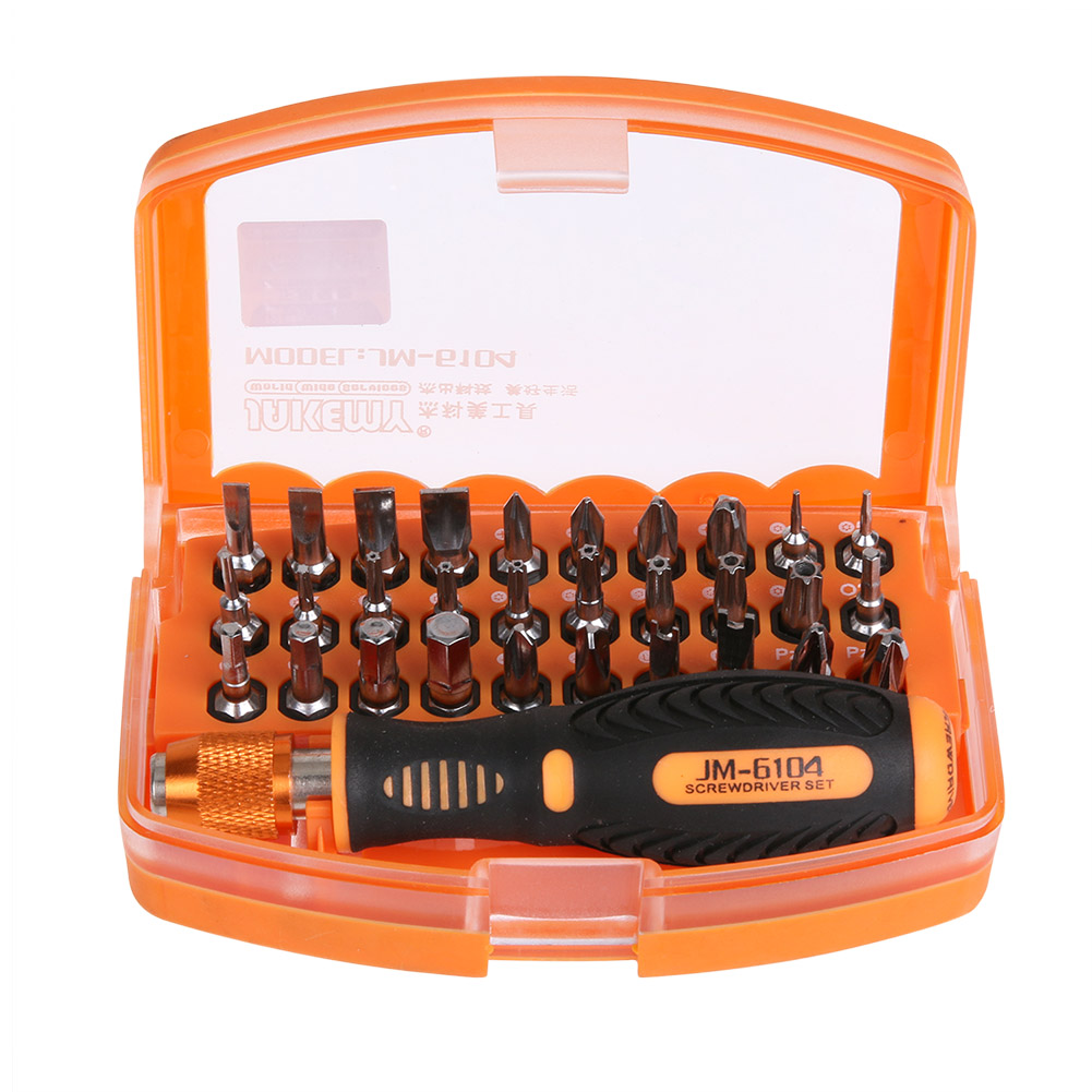 JAKEMY JM-6104 31in1 High-altitude Working Screwdriver Set Repair Hand Tools Kit for Mobile Phone Computer Electronic Model