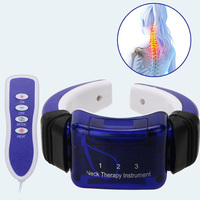 Electric Neck Meridian Therapy Massager Cervical Vertebra Hauling Instrument Massager Far Infrared Heating Pain Relief GUB