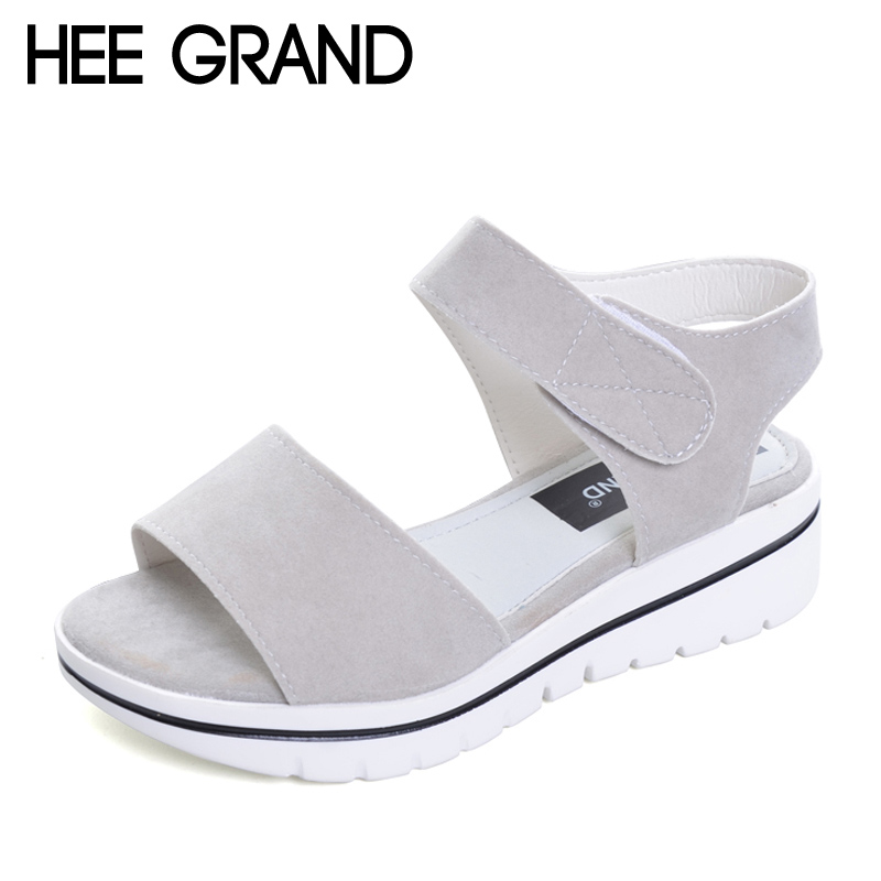 HEE GRAND 2017 Fock Women Sandals Summer Comfort Flats Fashion Creepers Platform Casual Shoes Woman 3 Colors XWZ4244 phyanic 2017 gladiator sandals gold silver shoes woman summer platform wedges glitters creepers casual women shoes phy3323