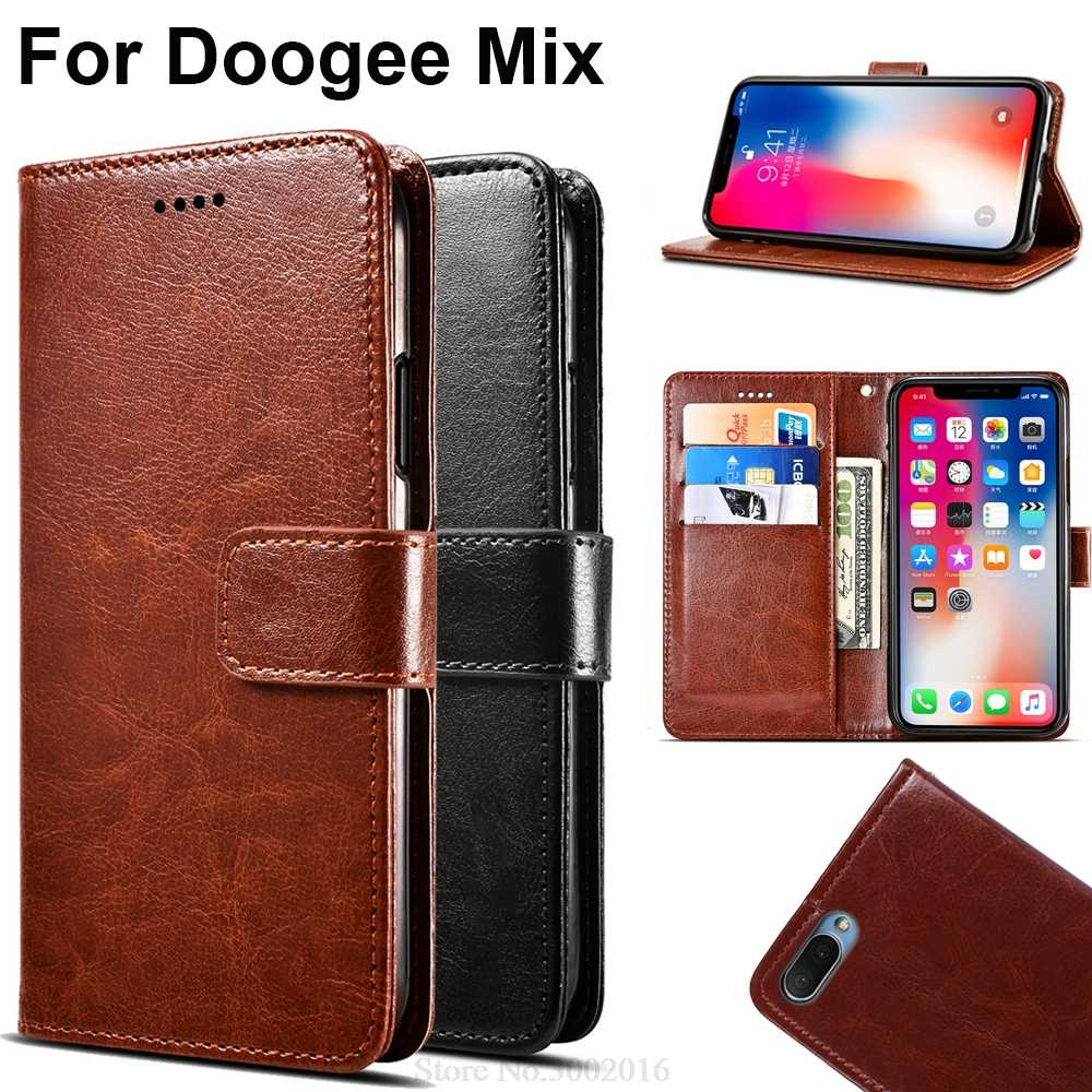 Luxury Flip Case For Doogee Mix Case Leather High Quality Cell phone bags Case Cover For Doogee Mix 5.5 Carcasa Silicone Case