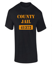 Customised T Shirts MenS Crew Neck County Jail Short Sleeve Printing Machine