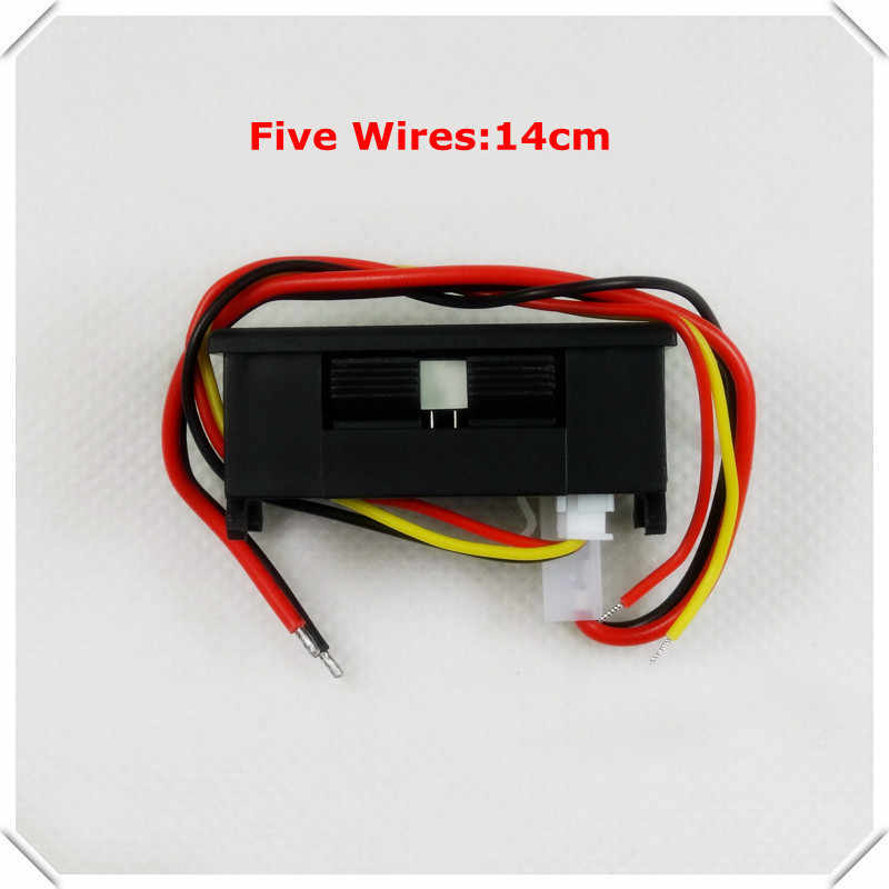 RD أي تحويلة المزدوج شاشة ليد 0.28 DC0-100V/50A سيارة الجهد الحالي متر الأميتر الرقمي الفولتميتر 5 سلك [4 قطعة/الوحدة]