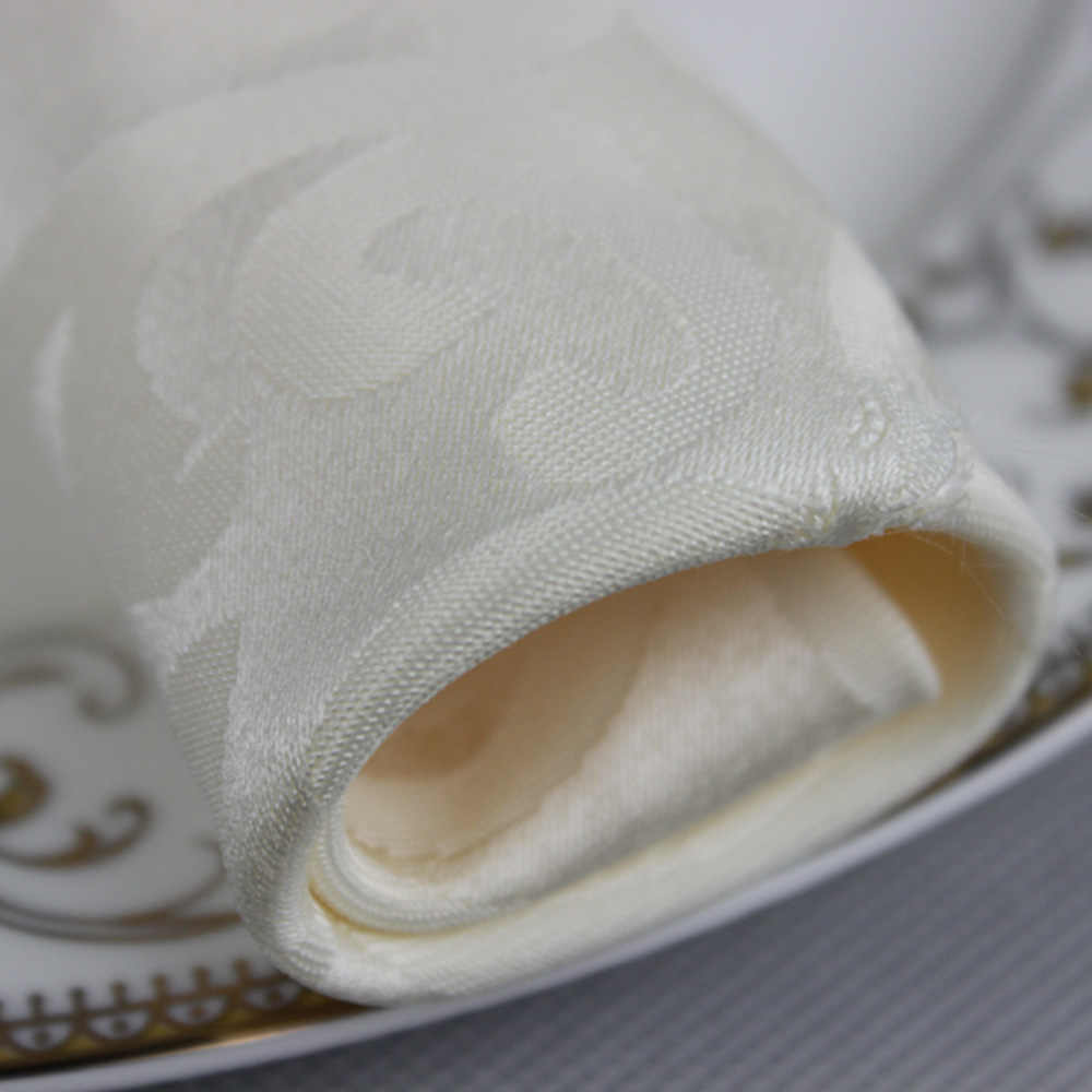Hot 10 stks/partij Wedding Party Decoration Polyester 48cm Vierkante Servet Hotel Banket Vouwen Doek Thuis Pocket Zakdoek