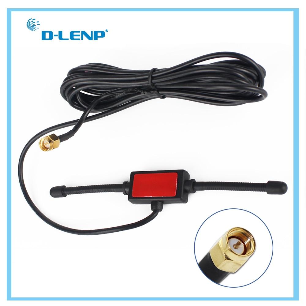 Dlenp антенна с большим радиусом действия 433 МГц, 433 МГц, патч-антенна для любительского радио SMA с кабелем 3 м
