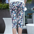 2016 summer style cotton   print Floral Pants & Capris clothes for  Maternity women