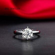 ANI 18K White/Yellow/Rose Gold (AU750) Women Wedding Ring 0.2 CT H/SI Certified Real Natural Round Cut Diamond Engagement Ring