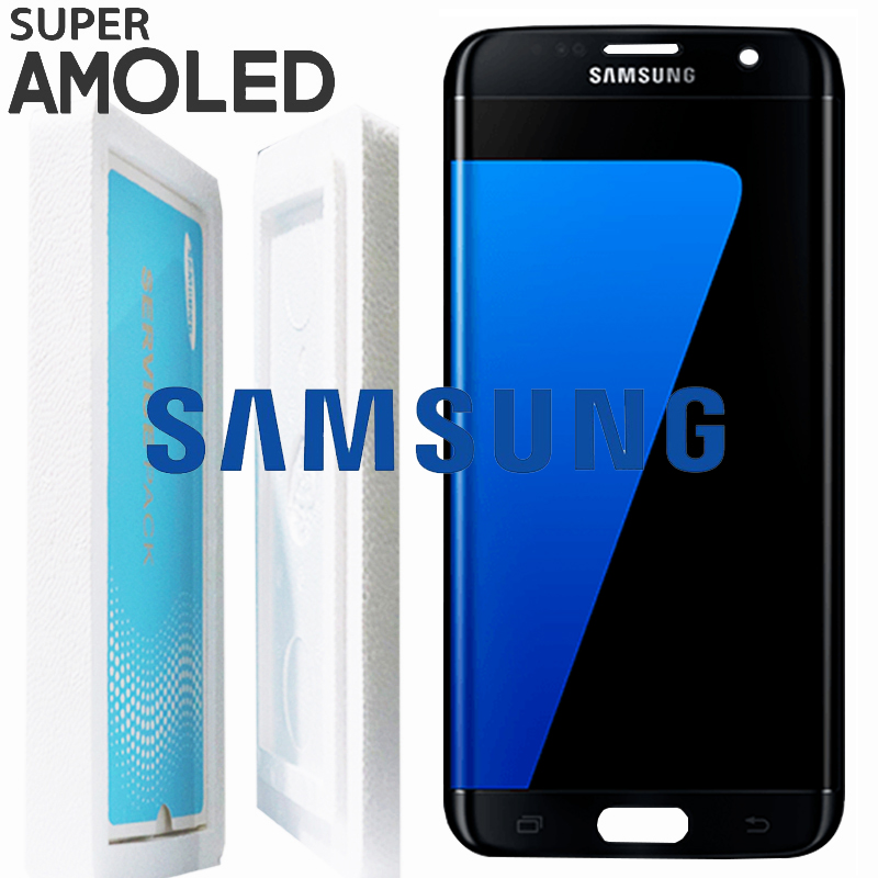 Black Gold Sliver ORIGINAL Super AMOLED 5 5 for SAMSUNG Galaxy S7 edge LCD Display G935
