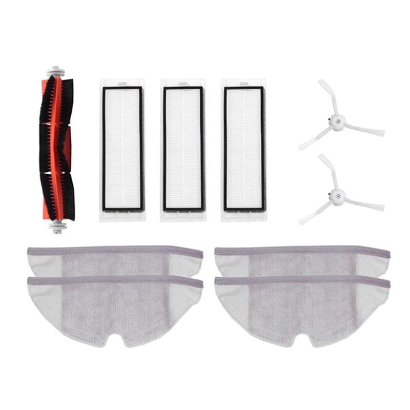 10pcs/lot New Main brush Hepa Filter Side brush Mop cloths Kit for Xiaomi mijia robot roborock s50 s51 roborock 2 цена