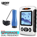 """LUCKY FF718D-Ice Portable 2.2""""  LCD Fish Finder Outdoor 200KHz/83KHz Dual Sonar Frequency 100M Fish Detector for Ice Fishing"""
