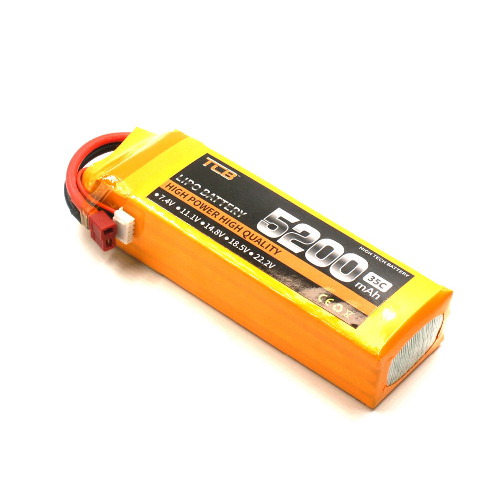 TCB RC LiPo Battery 4S 14.8V 5200mAh 35C for RC model Aircraft Airplane Car Boat Lithium polymer batteria v966 004 main blade clip parts for wltoys v966 v977 rc helicopter