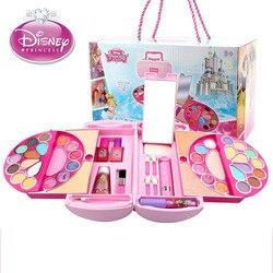 Disney Beauty  Fashion Toys Children's Cosmetics Princess Makeup Set Girl Toys Portable Makeup Bags House Birthday Gifts