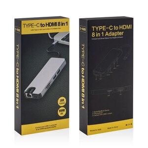 Image 5 - USB Type C naar HDMI VGA Gigabit Ethernet Lan RJ45 Adapter voor Macbook Air Pro 2018 Type C USB C hub Kaartlezer USB 3.0 PD Poort