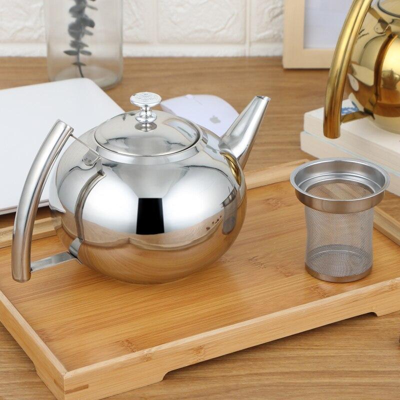 Толще 304 нержавеющая сталь чайник для воды отель чайник с фильтром отель кофе горшок индукционная плита для ресторанов чайник