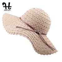 FURTALK Pieghevole Cotone Beach cappelli di sun per Le Donne Fashion Design Donne Spiaggia Cappello Da Sole Pieghevole Cappello di Paglia A Tesa