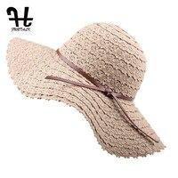 Furtalk折りたたみ綿ビーチ太陽の帽子ファッションデザイン女