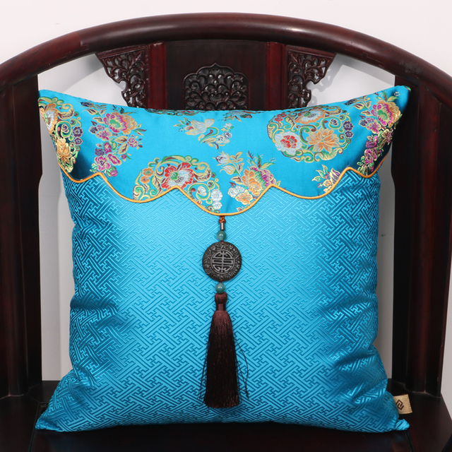 luxury christmas chair covers table with storage jade patchwork natural mulberry silk pillow case cushion cover sofa china decor