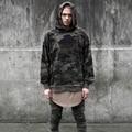 Камуфляж Толстовка 2017 Мода Скейтборд Sweartshirt Пуловер Sudadera Hombre Камуфляж Серый Черный Хип-Хоп Балахон