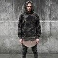 Camo Hoodie 2017 Fashion Skateboard Sweartshirt Pullover Sudadera Hombre Camouflage Grey Black Hip Hop Hoodie