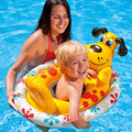 INTEX Children Swim Rings Swimming Laps 3-6 Years Old Baby Seat Float Children Rubber Ring Lifebuoys For Boys Girls