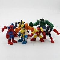8 шт./компл. Мстители фильм Халк Человек-паук Капитан Америка фигурку Коллекционная модель игрушки