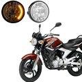 Alta Qualidade Da Motocicleta LEVOU Farol Dianteiro Luz de iluminação Da Motocicleta amarela