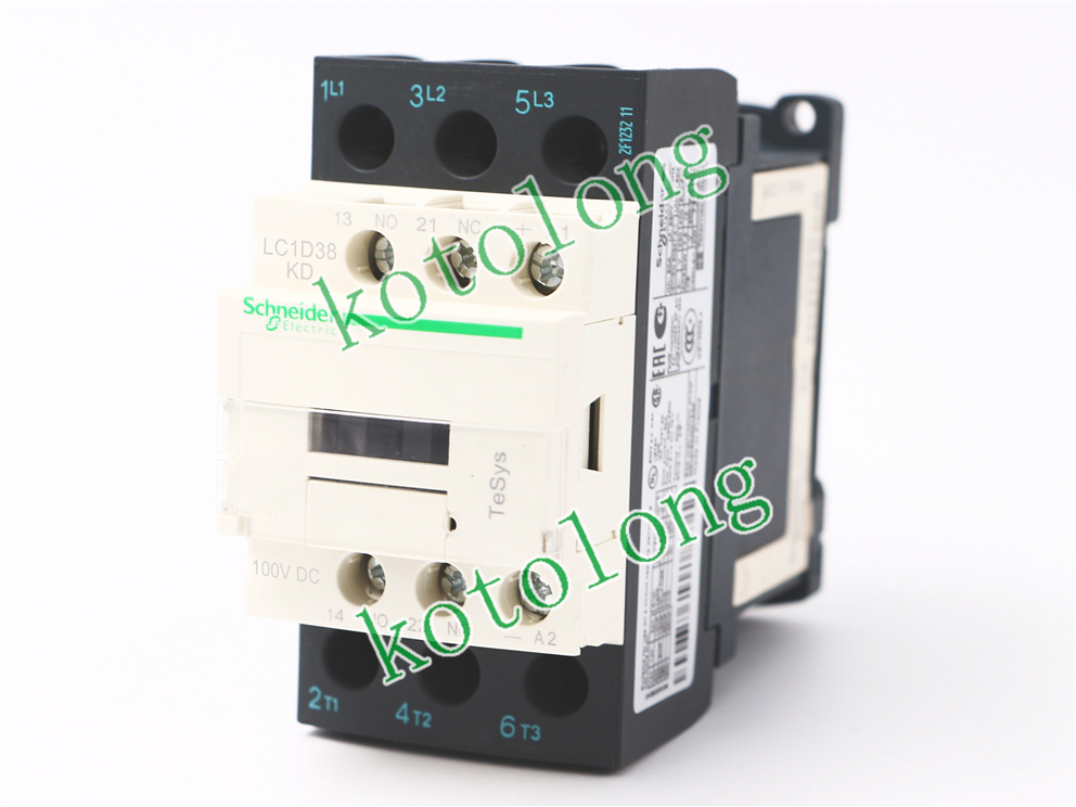 DC Contactor LC1D38 LC1-D38 LC1D38KD 100VDC LC1D38LD 200VDC LC1D38MD 220VDC LC1D38ND 60VDC tesys k reversing contactor 3p 3no dc lp2k1201kd lp2 k1201kd 12a 100vdc lp2k1201ld lp2 k1201ld 12a 200vdc coil