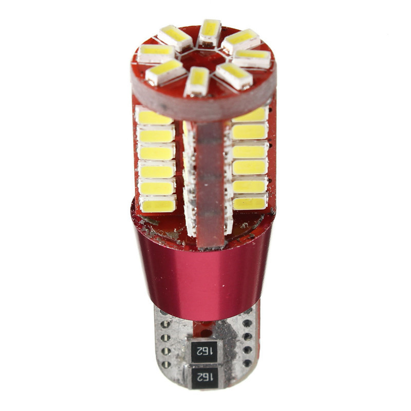 10x 2pcs bulb T10 56 SMD 3014 LED Canbus No Error Car Position internal DC12 24V
