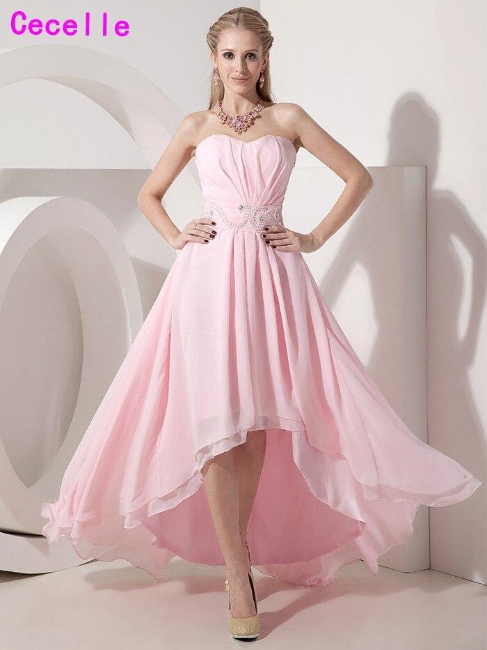 Encantador Vestido Alto Bajo La Dama De Honor Inspiración - Ideas de ...
