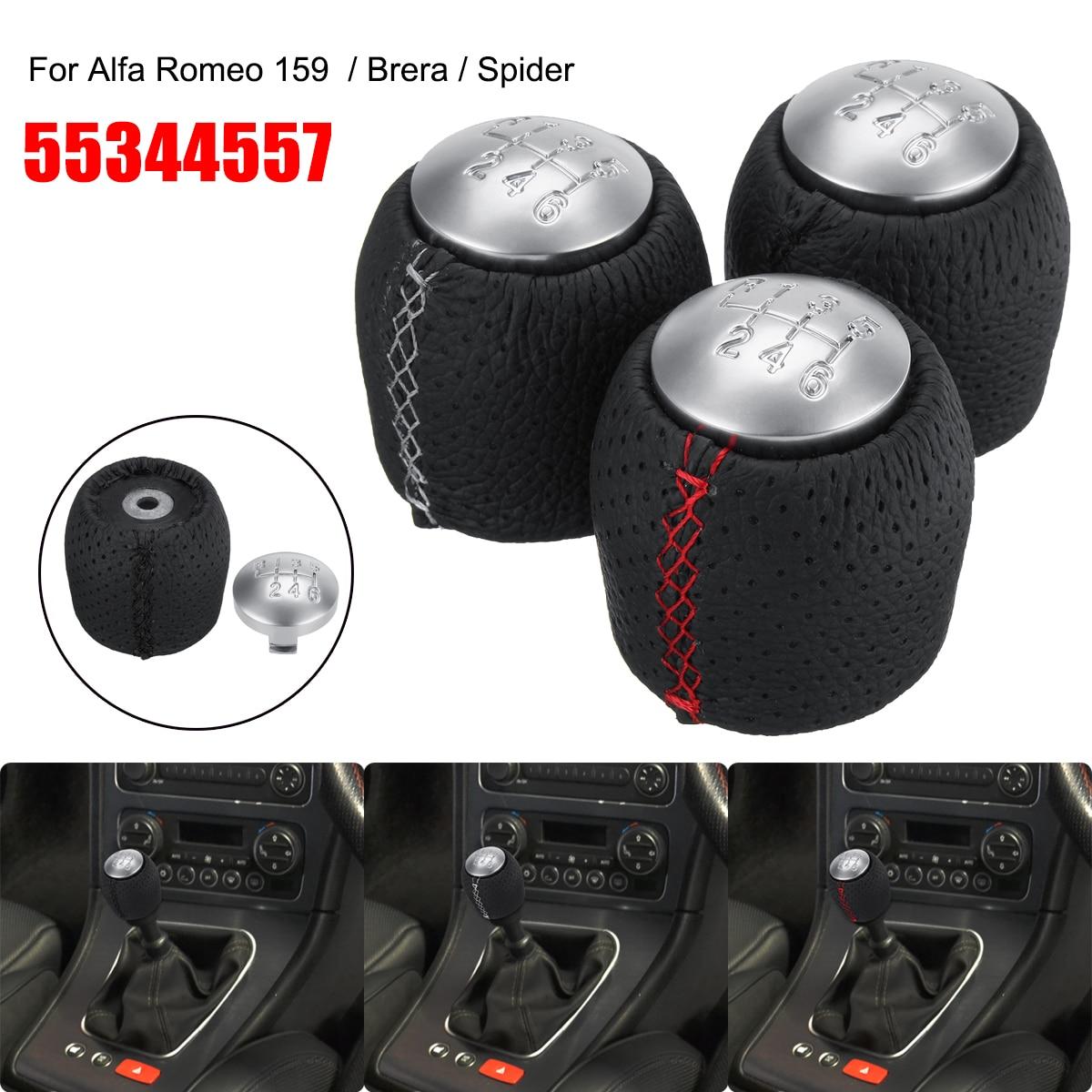 6 velocidad coche pomo del cambio de marchas para Alfa Romeo 159 Brera Spider 2005-2011 de 55344557 rojo, blanco, negro línea