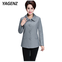 Middle Aged Women Short Jacket Plus Size XL 5XL Fashion Slim Elegant Women Outerwear Spring Autumn