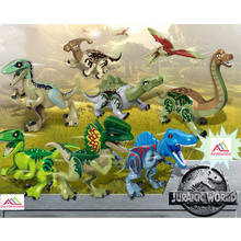 8Pcs Jurassic World Park Dinosaur Tyrannosaurus Rex Indoraptor Indominus Rex Building Block Bricks Toys Compatible With legoing jurassic dinosaur world 2 park building blocks figures tyrannosaurus indominus rex indoraptor kid toys for children