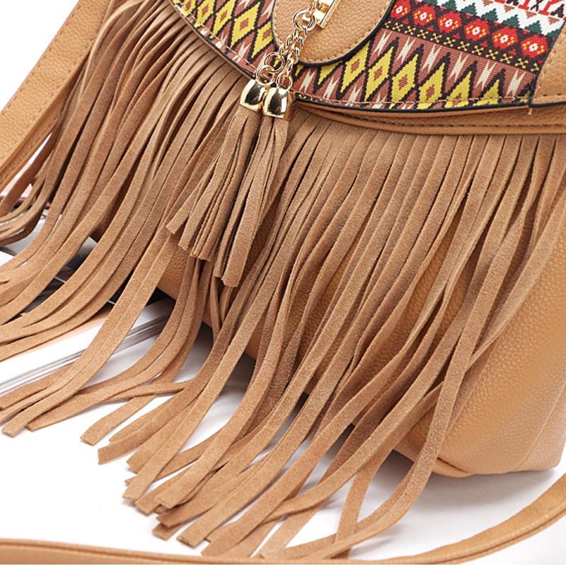 Imprimir flor de cuero de la pu de las mujeres bolsas de mensajero de - Bolsos - foto 5