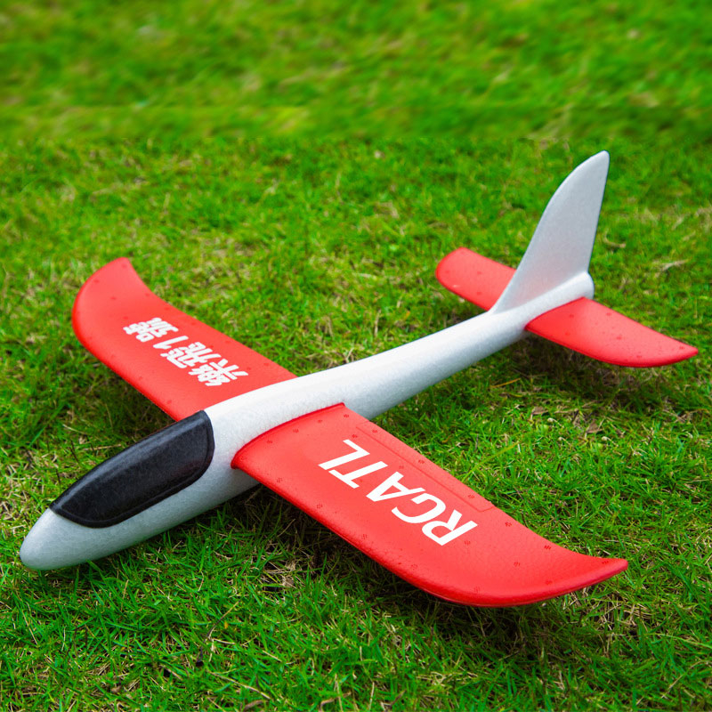 INBEAJY 48cm Big Good Quality Hand Launch Throwing Glider Aircraft Inertial Foam EPP Airplane Toy Children Plane Model Outdoor