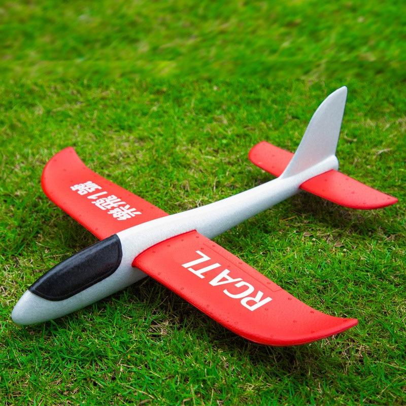 INBEAJY 48cm Big Good Quality Hand Launch Throwing Glider Aircraft Inertial Foam EPP Airplane Toy Children Plane Model Outdoor