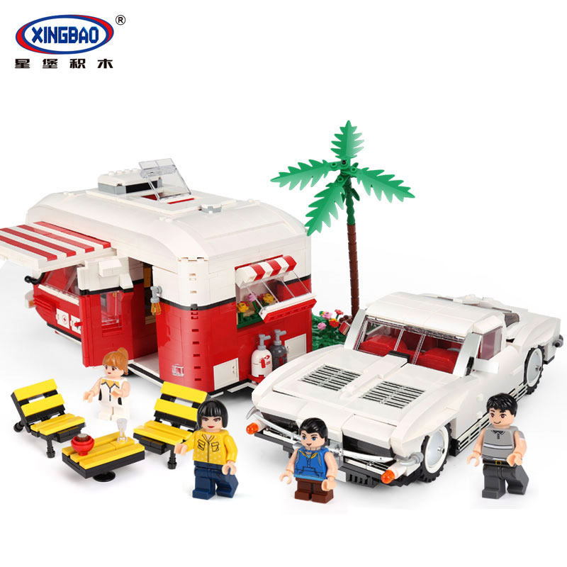 XingBao 08003 2436Pcs New Creative Series The MOC Camper Set Children Educational Building Blocks Bricks Toys Model Funny Gifts xingbao 01001 creative chinese style the chinese silk and satin store 2787pcs set educational building blocks bricks toys model