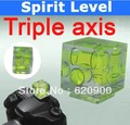 100% GUARANTEE Triple 3 Axis Bubble Spirit Level On Camera Hot Shoe 3D free shipping