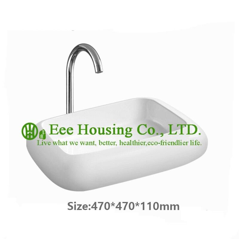 Évier de salle de bain moderne en céramique à un trou