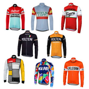 919b388fd retro cycling jersey mtb road bike clothes 8 styles long sleeve pro team  molteni