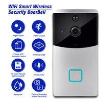 Smart Wireless Security wifi doorbell HD 720P video intercom Recording Video Door Phone Remote Home Monitoring video door bell